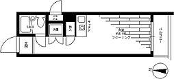 JR山手線 原宿駅 徒歩10分の賃貸マンション 4階ワンルームの間取り