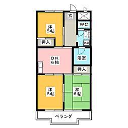 新栄ハイツ[3階]の間取り