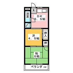 弥生ヶ岡荘[2階]の間取り