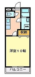 グレイスKM[3階]の間取り