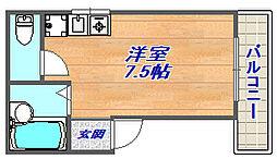 畑マンション[2F東号室]の間取り