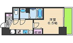 JR大阪環状線 天王寺駅 徒歩10分の賃貸マンション 13階1Kの間取り
