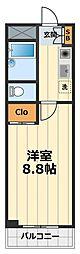 神奈川県大和市中央林間3丁目の賃貸マンションの間取り