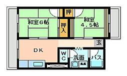 戸ノ上台メイゾン[202号室]の間取り