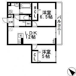 (仮称)D-room玉串町西[202号室号室]の間取り