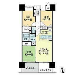 ロイヤルガーデン徳島駅西[9階]の間取り