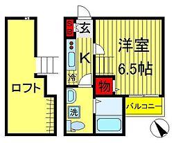 メゾンドジャンヌ[2階]の間取り