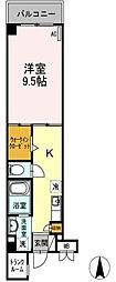 愛知県名古屋市瑞穂区直来町5丁目の賃貸マンションの間取り