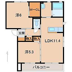 シャーメゾン太田[2階]の間取り