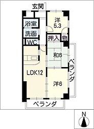LONE STAR茶屋ヶ坂[4階]の間取り