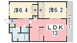 ル・クレア・F[203号室]の間取り