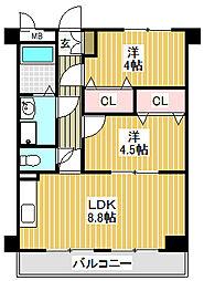 愛知県名古屋市中川区花池町3丁目の賃貸マンションの間取り