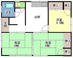 [一戸建] 茨城県ひたちなか市大字高野 の賃貸【茨城県 / ひたちなか市】の間取り