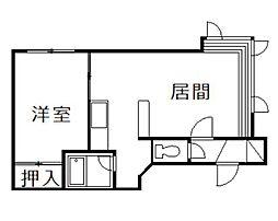 セレクト永山[102号室]の間取り