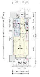 名古屋市営桜通線 車道駅 徒歩6分の賃貸マンション 11階1Kの間取り