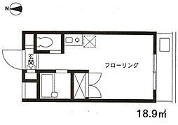 神奈川県川崎市多摩区三田2の賃貸マンションの間取り