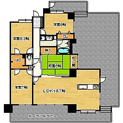 アンピールマンション太宰府[4階]の間取り