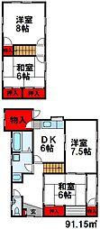 [一戸建] 福岡県古賀市花見東6丁目 の賃貸【福岡県 / 古賀市】の間取り