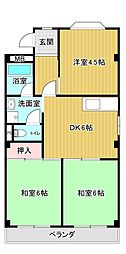 シャンポール原I[4階]の間取り