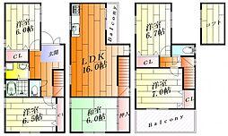 [一戸建] 大阪府摂津市別府2丁目 の賃貸【大阪府 / 摂津市】の間取り