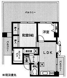 神奈川県横浜市磯子区中原2丁目の賃貸マンションの間取り