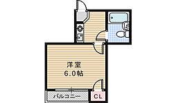 EST山坂[1階]の間取り