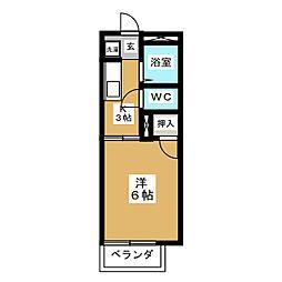 フラワーハイツ笠木[1階]の間取り