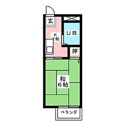 サンシティ クシマ[2階]の間取り