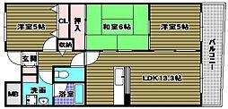 グランカーム和泉中央[402号室]の間取り