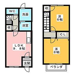 パインラトールB棟[2階]の間取り