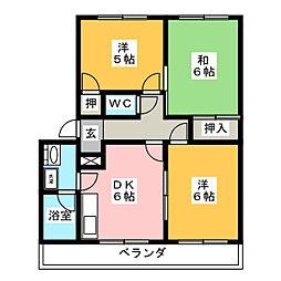 ボ・ヌール[2階]の間取り