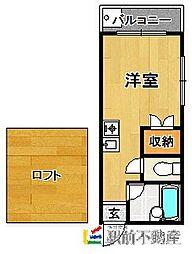 マキシム箱崎[102号室]の間取り