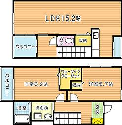 ソレイユTAKADA[105号室]の間取り