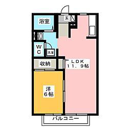 コーポラス長沢[1階]の間取り