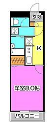 ドミール所沢II[3階]の間取り