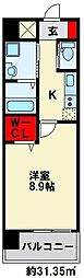 ZEGUNA(ゼグナ) 11階1Kの間取り