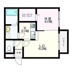 MONI HIBARIGAOKA(モニヒバリガオカ)[4階]の間取り