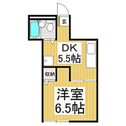 ファミーユ石堂[2階]の間取り