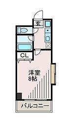 フラット福寿第6[1階]の間取り