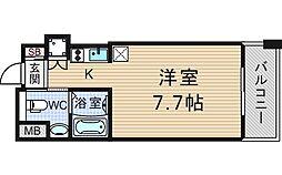 大阪府大阪市西区立売堀2丁目の賃貸マンションの間取り