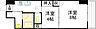 間取り,2K,面積34.37m2,賃料6.3万円,JR山陽本線 広島駅 徒歩24分,広島電鉄5系統 比治山下駅 徒歩6分,広島県広島市中区鶴見町