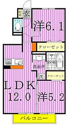 メゾン桜の里[102号室]の間取り