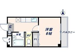 パルテカワサキ[4階]の間取り