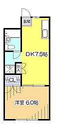 ルネミヤキ[2階]の間取り