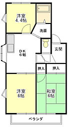 ライムハウス A棟[2階]の間取り