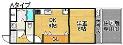 ペッティー北島[2階]の間取り
