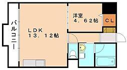 アフレール[4階]の間取り