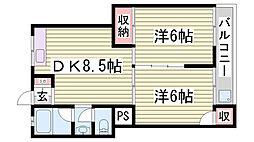 日正マンション[4階]の間取り