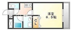 シャインガーデン[4階]の間取り