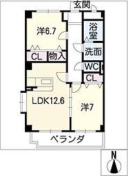 サン・ウィング[3階]の間取り